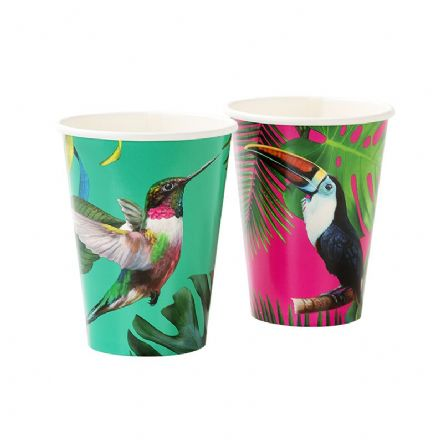 Truly Tropical Bright Paper Cups